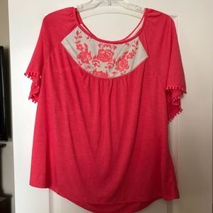 Maurices coral top size 2(plus size)